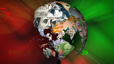 World Currency with BGD Stock Video Footage