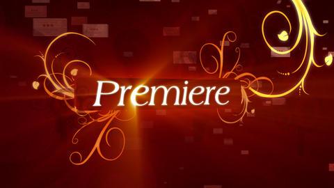 Premier Movies Sting Stock Video Footage