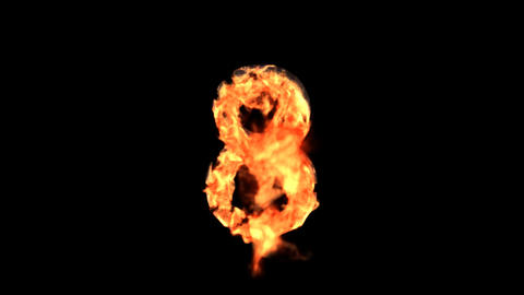 fire 8 Stock Video Footage