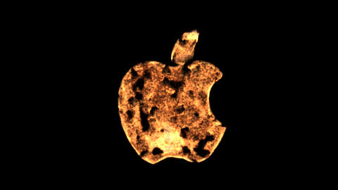 fire applelogo Stock Video Footage