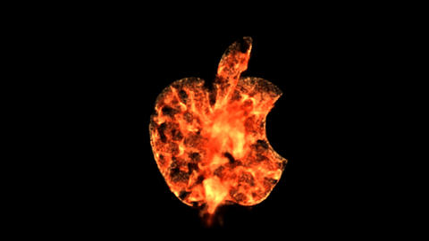 fire applelogo Stock Video Footage