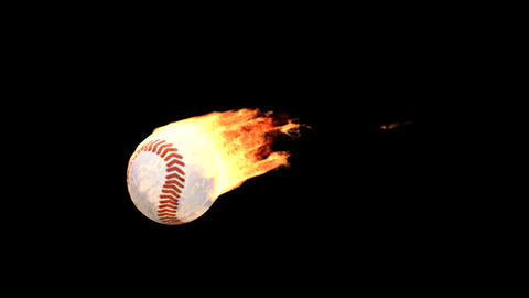 fire baseball Stock Video Footage