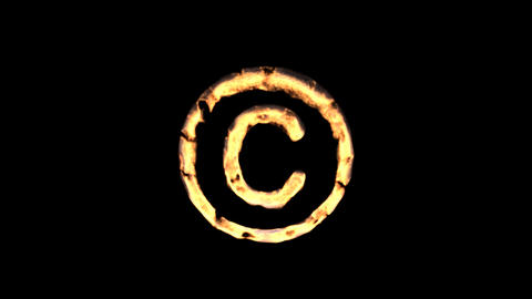 fire copyright Stock Video Footage