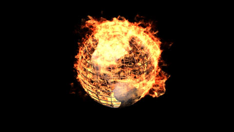 fire earth Stock Video Footage