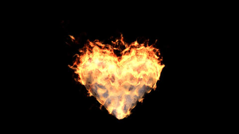 fire heart Stock Video Footage