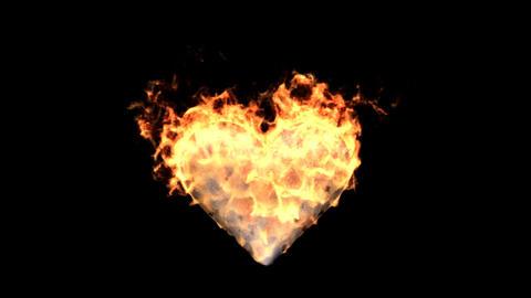 fire heart Stock Video Footage