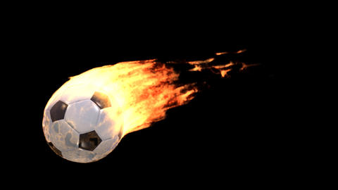 fire soccer Stock Video Footage
