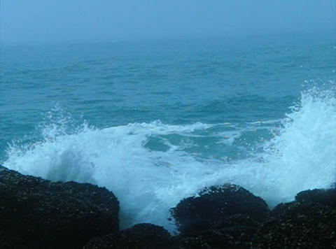 Ocean Waves 10 Waves crashing on rocks Stock Video Footage