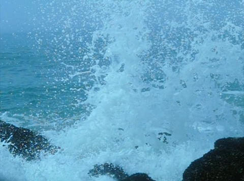 Ocean Waves 10 Waves crashing on rocks Stock Video Footage