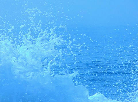 Ocean Waves 12 Waves crashing Loop Stock Video Footage