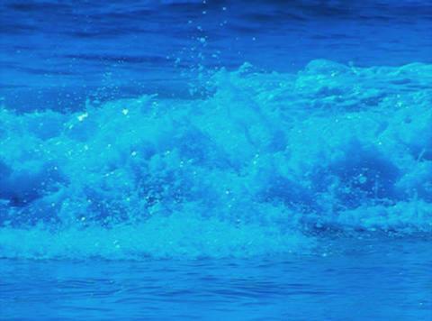 Ocean Waves 18 Waves crashing on beach_Loop_1min Stock Video Footage