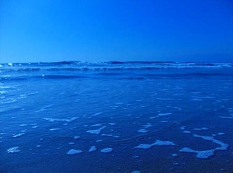 Ocean Waves 20 On the beach dolly shot Stock Video Footage