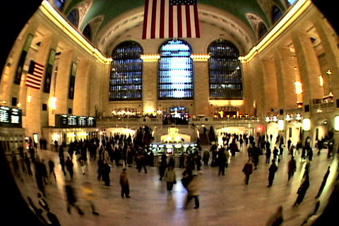 Grand Central Station Fish Eye Shutter XWide 1 Footage
