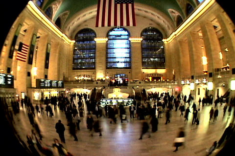 Grand Central Station Fish Eye Shutter Stock Video Footage