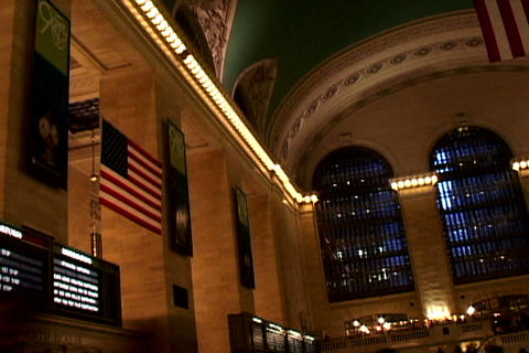Grand Central Station Flags Shutter1 Stock Video Footage