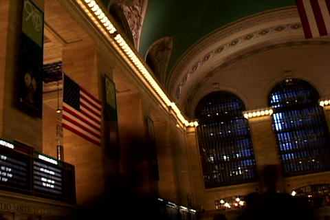 Grand Central Station Flags Shutter1 Footage