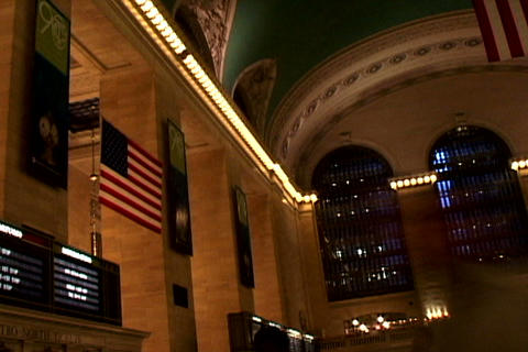 Grand Central Station Flags Shutter 3 Footage