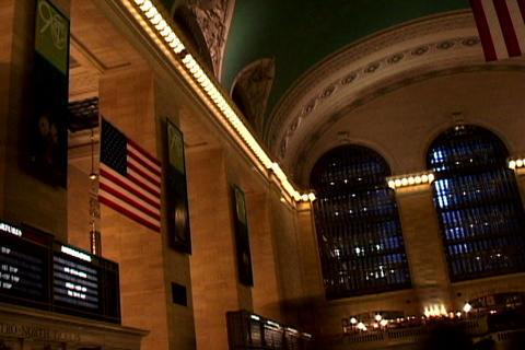 Grand Central Station Flags Shutter 3 Stock Video Footage