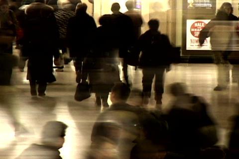 Grand Central Station Shutter Med Blend 1 Stock Video Footage