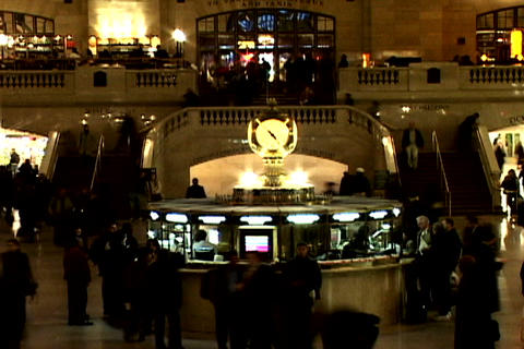 Grand Central Station Shutter Staircase Wide 2 Stock Video Footage