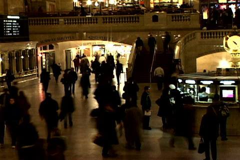 Grand Central Station Shutter Wide 2 Stock Video Footage