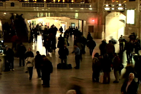 Grand Central Station Shutter Wide Right Stock Video Footage