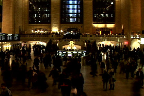 Grand Central Station Shutter XWide 2 Stock Video Footage