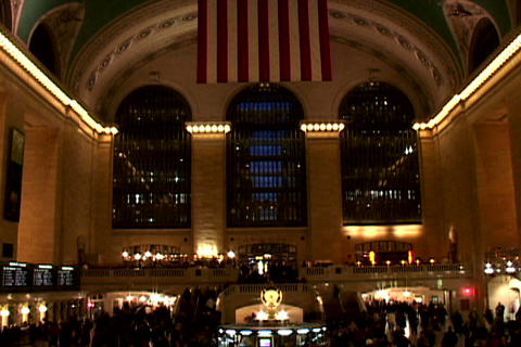 Central Station Wide Shutter 1 Stock Video Footage