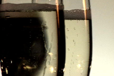 Two Champagne Glasses Spin 2 Stock Video Footage