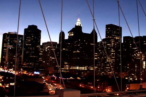 Cityscape from New York Bridge Shutter Footage