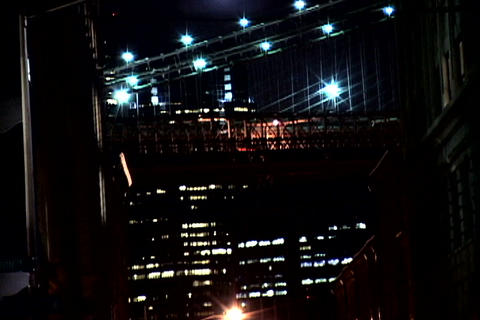 New York Bridge at night 2 Footage