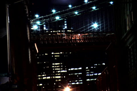 New York Bridge at night 2 Stock Video Footage