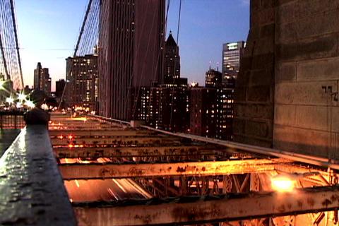Traffic on New York Bridge Shutter Footage