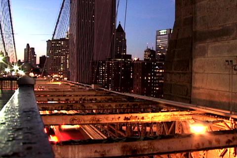 Traffic on New York Bridge Shutter Stock Video Footage
