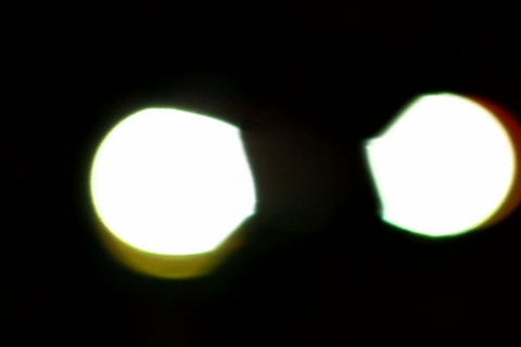 Car lights _out of focus Stock Video Footage