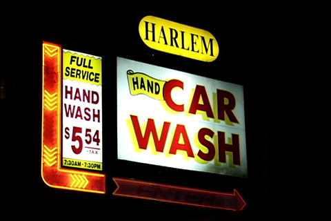 Car Wash Signboard Footage