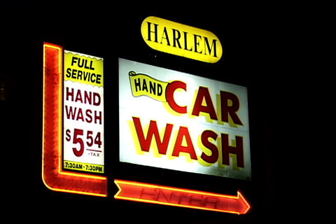 Car Wash Signboard Stock Video Footage