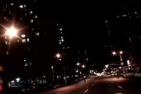 Night shot of New York traffic Stock Video Footage