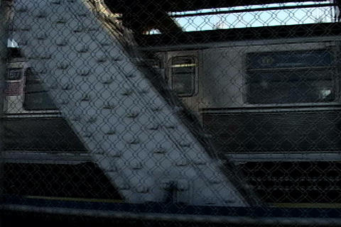 Train passing by, New York Stock Video Footage