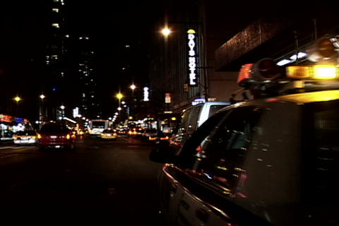 Police car lights at night Stock Video Footage