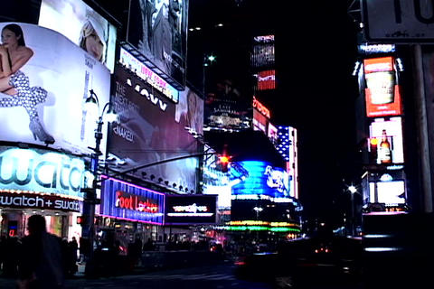 Times Square buildings Stock Video Footage