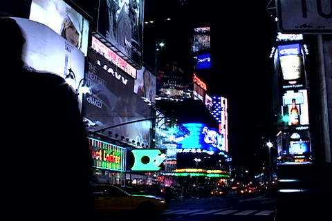 Times Square buildings Footage