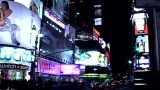 Times Square Buildings At Night 2 stock footage