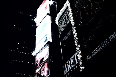 Times Square skyline at night Stock Video Footage