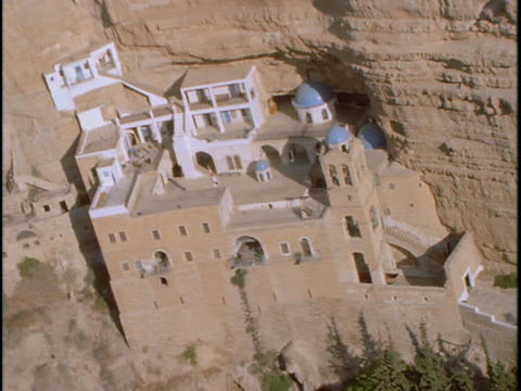 A Greek Orthodox monastery hides in Israeli mountains Stock Video Footage