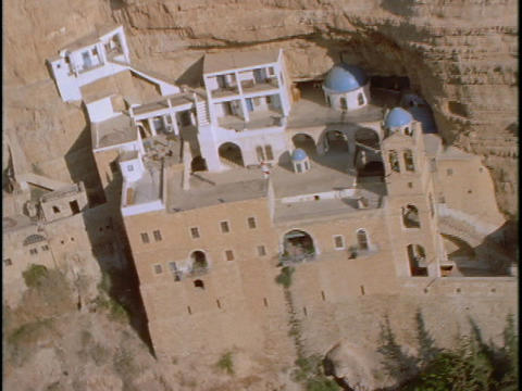 A Greek Orthodox monastery hides in Israeli mountains Footage