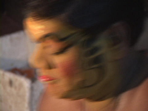 An actor applies his makeup for a Kathakali Dance... Stock Video Footage