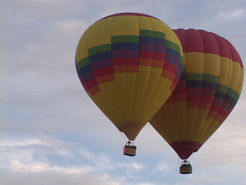 Hot air balloons take off at the Albuquerque Balloon Festival Footage