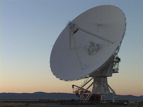 A satellite dish points skyward in New Mexico Footage