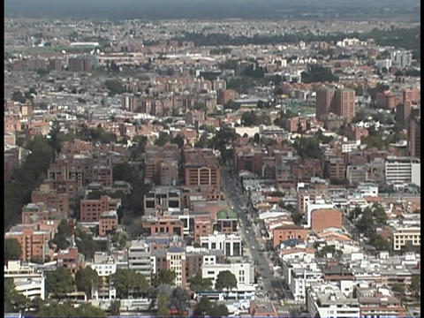 The immense city of Bogota, Colombia stretches to the horizon Footage